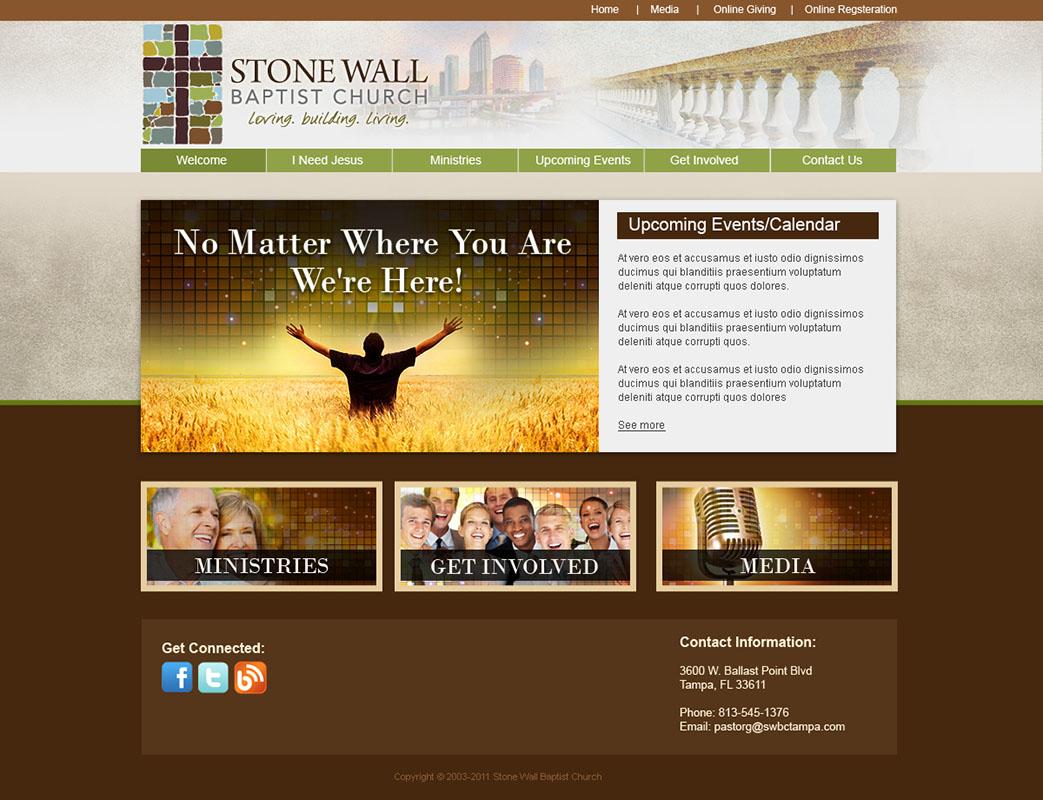 Church Website Design And Church Logo Design - Church web templates